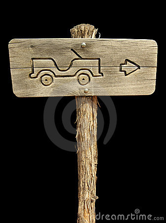 Jeep Sign on Black