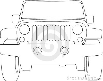 Jeep Truck Outline Royalty Free Stock Image Image 12991056