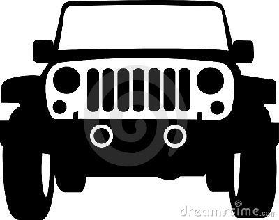 Jeep Truck Outline