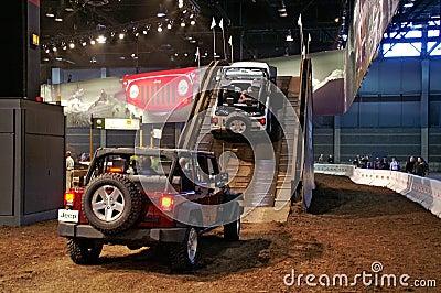 Jeep uphill demo Editorial Stock Photo