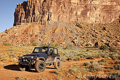Jeep in Utah s San Juan County Desert
