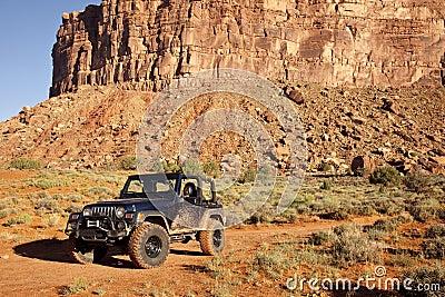 Jeep in Utah s San Juan County Desert