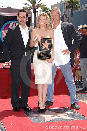 Jeff Bridges, Michelle Pfeiffer, Paul Rudd Editorial Photo