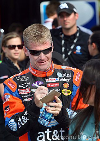 Jeff Burton signs autographs Editorial Stock Image