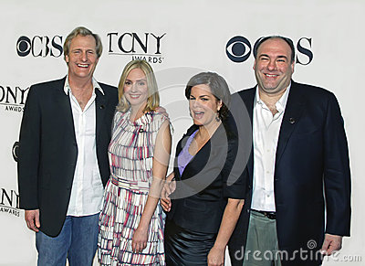 Jeff Daniels, Hope Davis, Marcia Gay Harden, en James Gandolfini Redactionele Fotografie