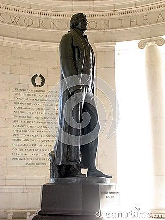 Jefferson Memorial Bronze Statue in Washington DC