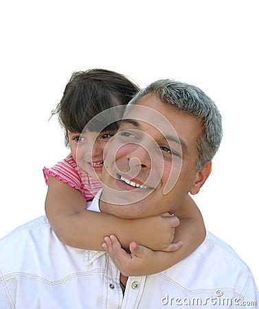 Jej przytulania tatusia