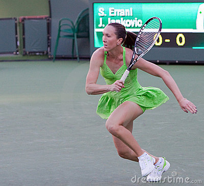 Jelena Jankovic at the 2010 BNP Paribas Open Editorial Image