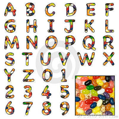 Jelly Bean sweet alphabet