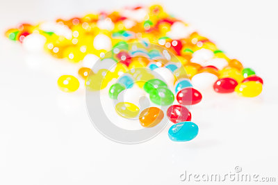 Jelly beans close-up