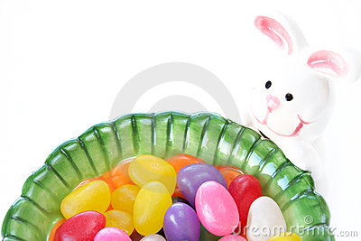 Jelly beans and Easter bunny