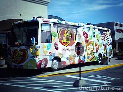 Jelly Belly Candy Van Truck Editorial Photography