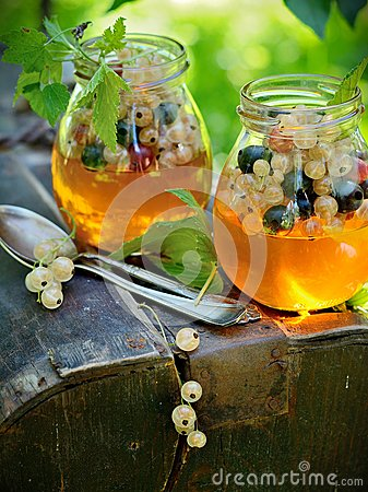 Jelly with berries