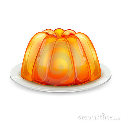 Free Jelly On Plate Stock Image - 18120351