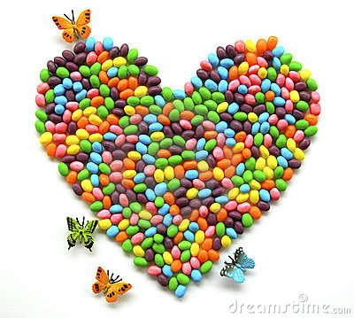 Free Jellybean Heart Royalty Free Stock Images - 8554999
