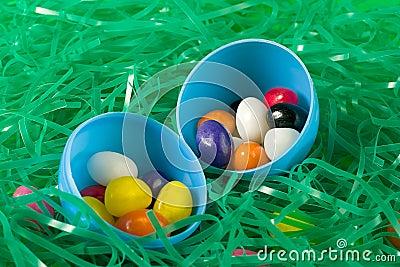 Jellybeans in egg