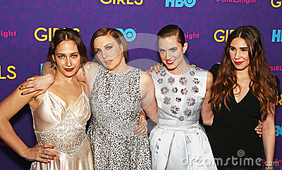 Jemima Kirke, Lena Dunham, Allison Williams, and Zosia Mamet Editorial Photography
