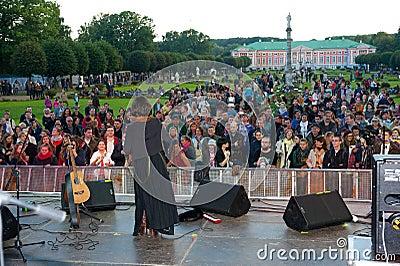 Jenia Lubich performs at Usadba Jazz Festival Editorial Stock Photo