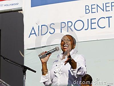 Jenifer Lewis Entertains the Crowd At AIDS WALK LA Editorial Photo