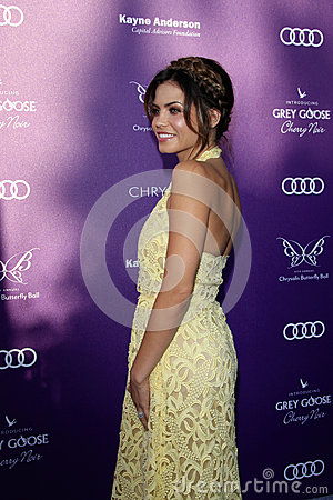 Jenna Dewan arriving at 11th Annual Chrysalis Butterfly Ball Editorial Stock Photo