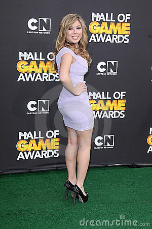 Jennette McCurdy at the Cartoon Network Hall of Game Awards, Barker Hangar, Santa Monica, CA 02-18-12 Editorial Photography