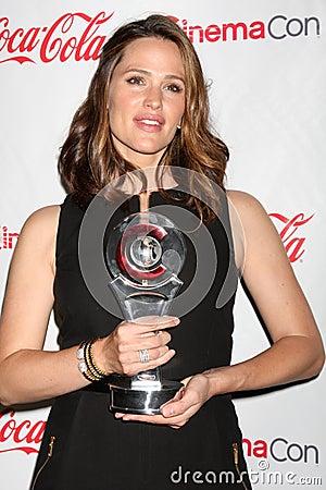 Jennifer Garner arrives at the CinemaCon 2012 Talent Awards Editorial Photography