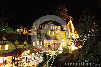 Jenolan Caves House at night Editorial Photography