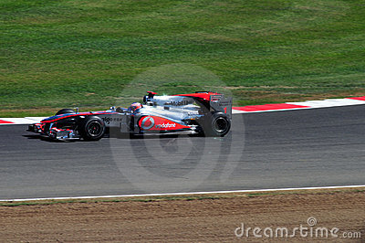 Jenson Button British Grand Prix 2010 Editorial Stock Image
