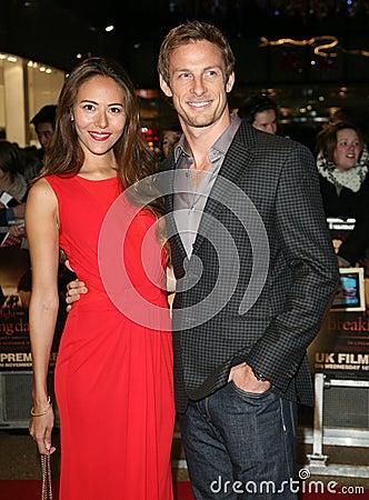 Jenson Button, Jessica Michibata Editorial Stock Photo
