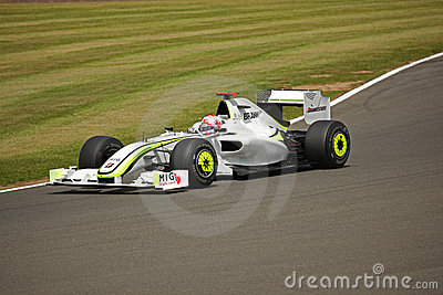 Jenson Button Practice Silverstone F1 2009 Editorial Photography