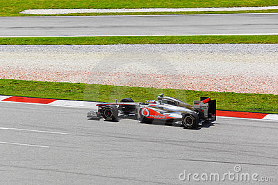 Jenson Button team McLaren Mercedes Editorial Photo