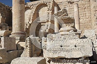 Jerash - old street in roman c
