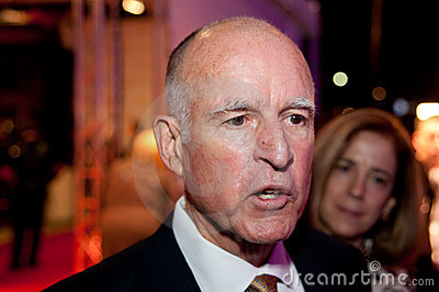 Jerry Brown Editorial Image