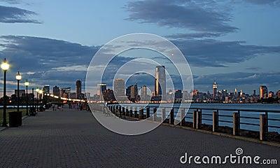 The Jersey City skyline