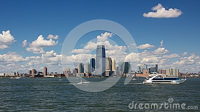 Jersey City Skyline from Harbor