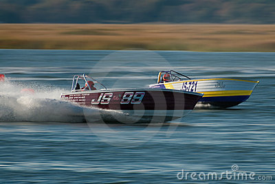 Jersey Speed Skiff racing Editorial Stock Photo