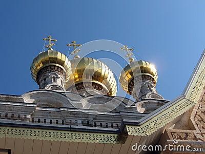Jerusalem Church St. Maria Magdalena gold Domes