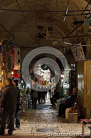 Jerusalem City Market Alley Editorial Photo