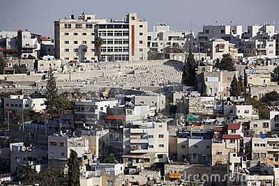 Jerusalem east district in Mount of Olives