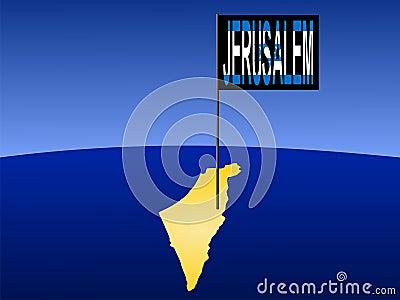 Jerusalem on Israeli map