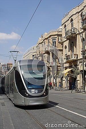 Free Jerusalem Light Rail Tram Royalty Free Stock Photos - 26028738