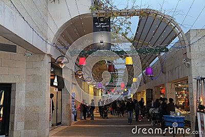 Jerusalem.  Mamila - new quarter Editorial Photography