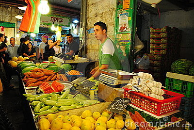 Jerusalem market Editorial Stock Photo