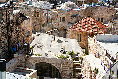 Jerusalem, Muslim quarter, Roofs of the Old City