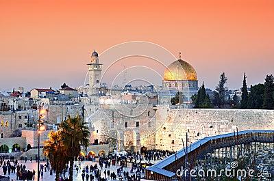 Jerusalem Old City at Temple Mount
