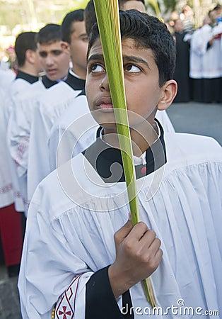 Jerusalem Palm sunday Editorial Photo