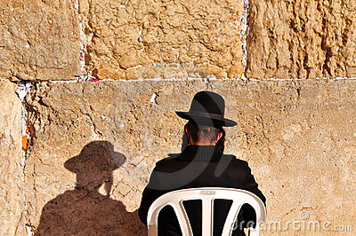 Jerusalem Passover Blessing at the Western Wall Editorial Image