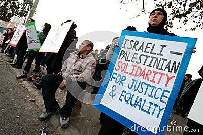 Jerusalem Protest Editorial Image