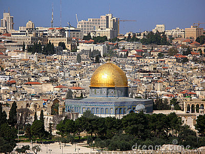 Jerusalem Skyline with Dome of the Rock