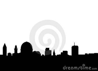 Jerusalem skyline vector